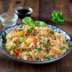 Spicy full of flavor and veggies this is best dish you can make with leftover rice.