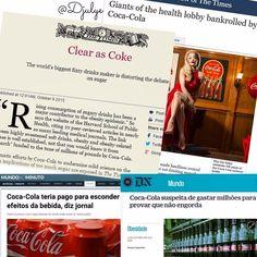 """Enquanto a Coca-Cola paga milhões para pesquisadores falarem que a bebida não engorda e que pelo contrário faz bem para a saúde e deveria ser consumida em associação à prática de exercícios... Muita gente continua se esbaldando de refrigerantes enquanto cortam aquela MARVADA gordurinha da carne tiram a pele do frango preparam tudo sem gordura consomem diet light e vejam só até o """"não engordativo"""" ZERO.  É minha gente... Está na hora de parar pra pensar melhor no que realmente faz mal para a…"""