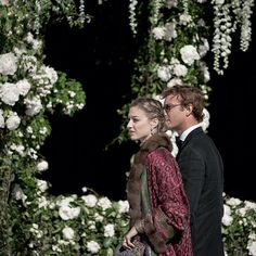 Pierre Casiraghi & Beatrice Borromeo attending the wedding of Noor Fares and Alex Fareshkawam, Honofleur - France, June 13, 2015