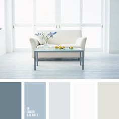 The first three blues, those are the colours I want in my bathroom... they say luxury spa and coastal!