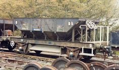 BR Dogfish Ballast Wagon No 993348 - DB 993348 is one of 161 vehicles built between March and November 1957 under lot 2823 by Metropolitan-Cammell Ltd. at their Saltley Works, near Birmingham. Initially it was allocated to the Western Region and was based at Cheddar, Somerset for Batts Combe limestone quarry - limestone being one of the materials regularly used for track ballast. The SR mainly used granite from Meldon Quarry, Devon.