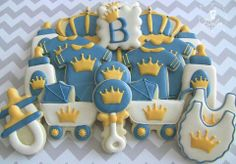Little prince baby shower cookies.