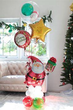 メリクリ♪ジョイフルサンタPL Noel Christmas, Xmas, Christmas Ornaments, Balloon Decorations, Christmas Decorations, Holiday Decor, Christmas Balloons, Pink Candy, Holidays And Events