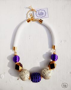 beaded necklace, paper ball, recycling, eco-friendly, tribal , fashoin,