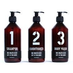 Shampoo, Conditioner, and Body Wash – Ace Hotel Shop Bottle Packaging, Cosmetic Packaging, Label Design, Packaging Design, Men Design, Logo Design, Ace Hotel, Perfume, Bottle Design