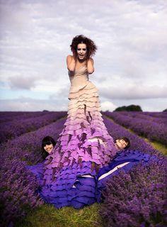 behind the scenes of Kirsty Mitchell's Wonderland series