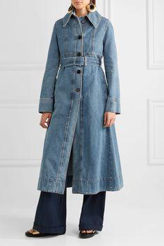 Marni - Belted Denim Coat - Blue - IT44