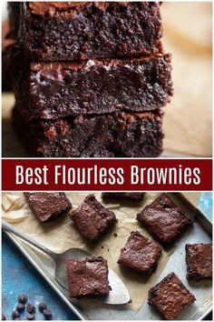 Scones Sans Gluten, Dessert Sans Gluten, Gluten Free Sweets, Gluten Free Baking, Vegan Gluten Free Brownies, Sugar Free Brownies, Paleo Vegan, Moist Brownies, Dessert