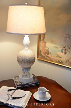 How to paint and distress brass lamp