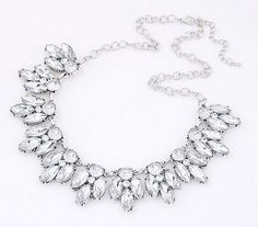 Womens Vintage Jewelry Crystal Flower Chokers Necklace