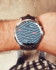 Casual cool in the Fossil Q Founder smartwatch.