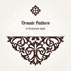 Vector vintage pattern in Victorian style. vector art illustration