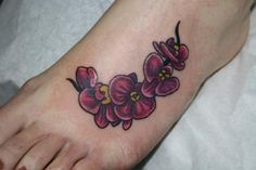 orchid on the foot :)
