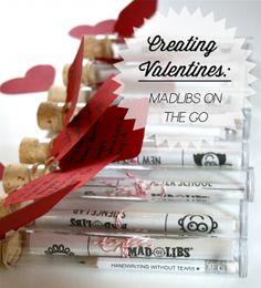 Creating Valentines: MadLibs on the go!