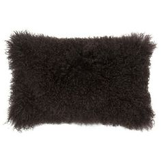 Sheepskin Pillow 13x20 Chocolate, $98, now featured on Fab.