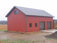 Steel Garage/Workshop Building Kit Excel Metal Building Systems Inc 13995 Metal Garage Buildings, Metal Garages, Shop Buildings, Steel Buildings, Modern Buildings, Metal Houses, Backyard Buildings, Metal Shop Building, Building A Pole Barn