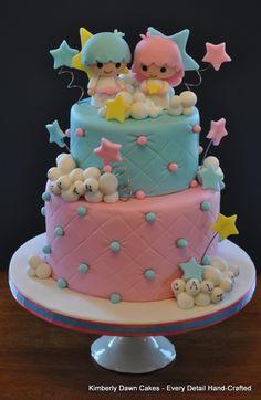 #Sanrio Little Twin Stars #pastel #cake  http://kimberlydawncakes.ca/Collection/DSC_0010.JPG