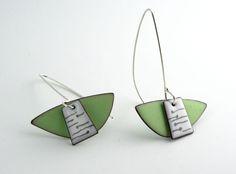 Enameled earrings - W Walsh Designs