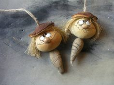 Clay Figures, Gourds, Preschool Activities, Fun Crafts, Polymer Clay, Dolls, Christmas Ornaments, Stone, Holiday Decor