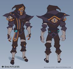 Dauntless - First Harvest Designs, Becca Hallstedt D D Characters, Fictional Characters, Monster Design, Becca, Character Design, Character Ideas, Costume Design, Harvest