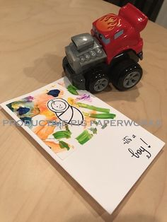 Simple Card with Handwritten Fonts and a touch of Kid Craft Colorful Paints on the background for the Special Baby Boy Personalized Cards, Handwritten Fonts, Crafts For Kids, Baby Boy, Colorful, Touch, Simple, Boys, Crafts For Children