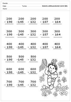 Atividades de Subtrair Séries Iniciais 3rd Grade Math Worksheets, 2nd Grade Math, Abacus Math, Math Drills, Math Sheets, Math Challenge, Math Addition, Math For Kids, Math Classroom