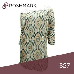 $sale$ / New! Dress Geometric Print NWT. Boutique. Brand New. Mini Dress /Tunic. Blends of peach and gray geometric print. Beautiful!! Dresses Mini