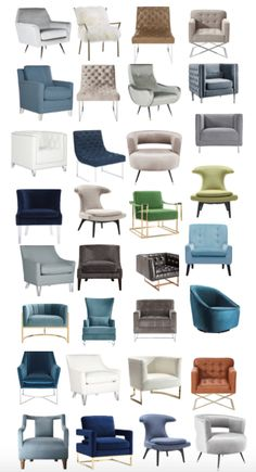 Transitional and modern accents chairs at really reasonable prices