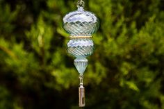 Stainless Steel Keepsake Urn with Glass Spiral Suncatcher Ornament