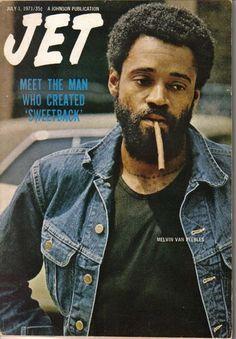 Melvin Van Peebles on the cover of Jet magazine, July Jet Magazine, Black Magazine, Ebony Magazine Cover, Magazine Covers, Immoral Tales, John Johnson, Vintage Black Glamour, Black Actors, Black History Facts