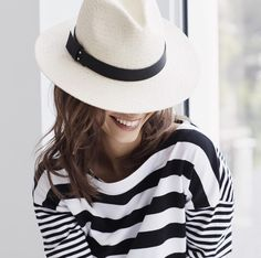 Complete your weekend look with our straw hat. This wide brimmed hat with faux leather details is the perfect accessory for a day out in the sun or dining al fresco. A must have for your Spring and Summer wardrobe Panama, What A Girl Wants, Wide Brimmed Hats, Nautical Fashion, Nautical Style, Modern Outfits, Summer Wardrobe, Her Style, Banana Republic