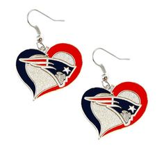Swirl Heart Patriots Earrings