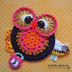 Autumn Owl coaster pattern by Vendula Maderska