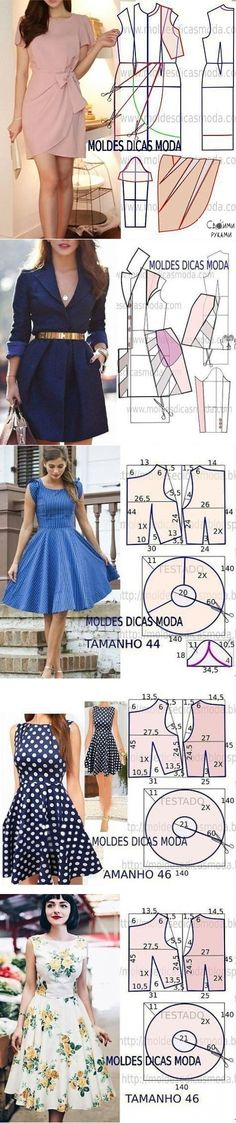 Diy Summer Clothes Dresses Inspiration New Ideas Dress Sewing Patterns, Sewing Patterns Free, Clothing Patterns, Fabric Sewing, Skirt Patterns, Blouse Patterns, Dress Tutorials, Sewing Tutorials, Sewing Tips