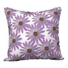 Purple Pillow Cover Teen Aged Girl Floral Throw Pillow Decorative... (110 ILS) via Polyvore featuring home, home decor, throw pillows, whimzingers, pillow, flower stem, purple home accessories, square throw pillows, purple accent pillows and flower throw pillows