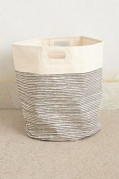Pencil Stripe Canvas Basket by Pehr