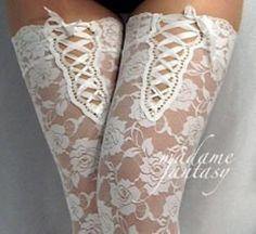 vintage lace stockings, lingerie