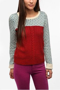 Cooperative Mixed Stitch Textured Sweater from Urban Outfitters