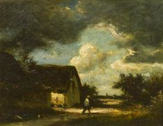 Jules Dupré - The Passing Storm, oil on canvas on MutualArt.com