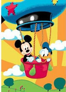 DISNEY Children's Bedroom Playroom Rug - Mickey Mouse Balloon | eBay  £12