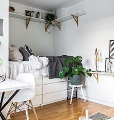 Marvelous Photo of Tiny Apartment Ideas Decor Bedrooms . Tiny Apartment Ideas Decor Bedrooms 9 Dreamy Bedroom Ideas For Tiny Apartments Daily Dream Decor Small Apartment Bedrooms, One Room Apartment, Small Rooms, Small Spaces, Tiny Bedrooms, Bedroom Small, Warm Bedroom, Cozy Apartment, Apartment Ideas