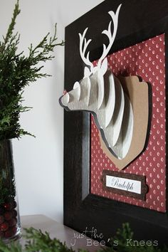Rudolph 3D wall art - Just The Bee's Knees