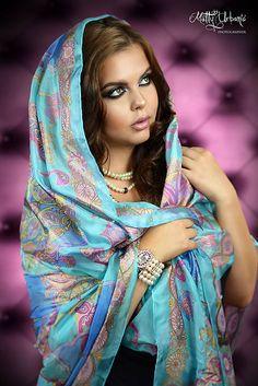 sacharin / Hodvábna maľovaná šatka - Rozprávka o Fatime
