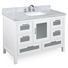 Manhattan 48-inch Vanity (Carrara/White)