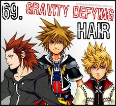 Just Kingdom Hearts (Must use a lot of hair gel...?)