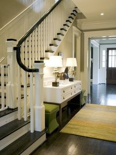 Stairs with wood flooring