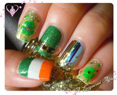 St. Patrick's Day nail art  2013