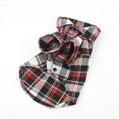 Doggie plaid shirt