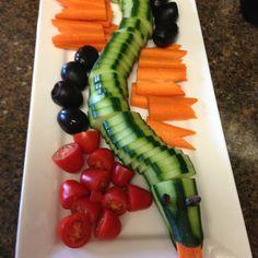 Ninjago snake veggies and snake tongues!