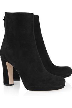 Miu Miu-Nubuck Ankle Boots.
